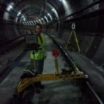 Trabajos de Topografia en tuneles ferroviarios