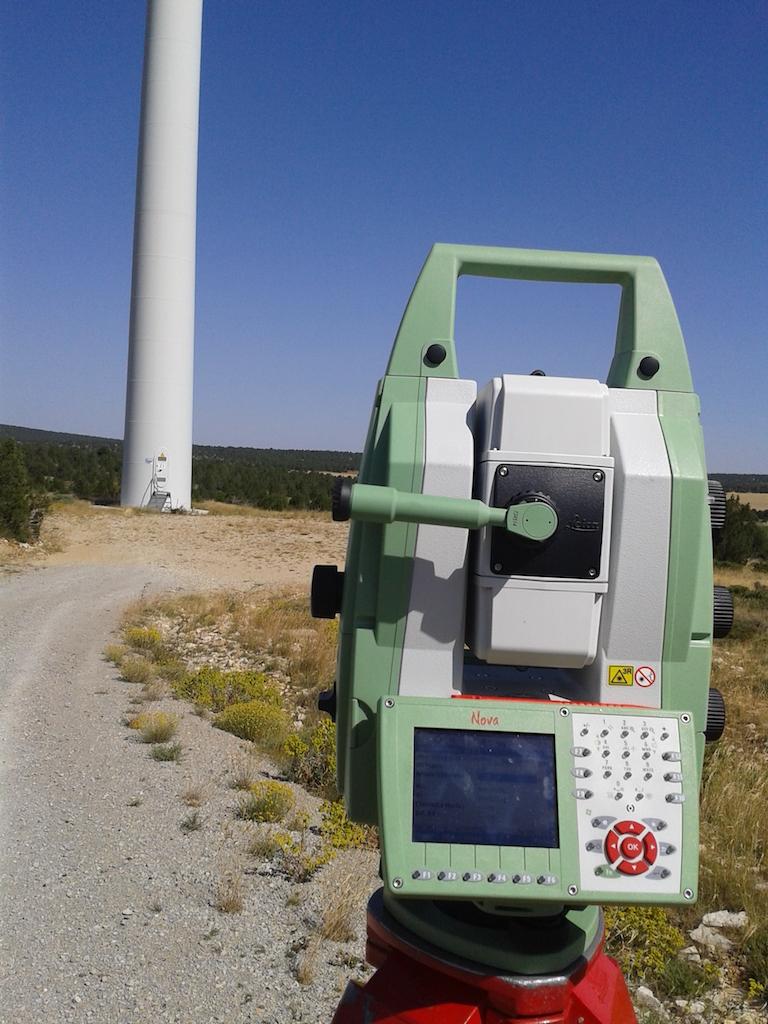 Topografia parque eolico