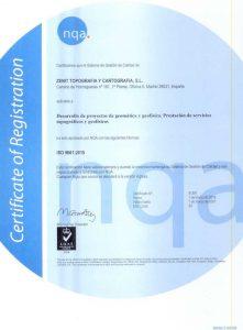 Certificado de calidad ISO9001